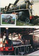 TRENS ANTIGOS: MARIA-FUMAÇA.ZEZE LEONI 370 E BARONEZA - BRASIL 2002 TARJETA CARTE FDC PRIMEIRO DIA DE CIRCULAÇAO - LILHU - Brasil