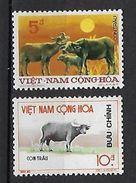 """Viet-Sud YT 468 & 469 """" Buffles """" 1974 Neuf** MNH - Vietnam"""