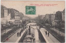 75 - PARIS - Perspective Des Quais De Lemmapes Et Valmy - La Seine Et Ses Bords