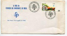 54 ANOS DA FEDERAÇAO DAS BANDEIRANTES DO RASIL. 1996 SOBRE ENVELOPE FDC PRIMEIRO DIA DE CIRCULAÇAO - LILHU - Brasil