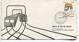 METRO DO RIO DE JANEIRO. 1979 SOBRE ENVELOPE FDC PRIMEIRO DIA DE CIRCULAÇAO - LILHU - Brasil