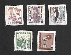 COR004 - 1961/62 - COREA DEL SUD SERIE CORRENTE YVERT 261A/264 - NUOVA! GOMMA INTEGRA ** - Corea Del Sud