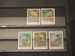 PAPUA - 1989 UCCELLI  5 VALORI  - NUOVI(++) - Papua Nuova Guinea