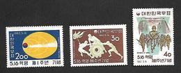 COR005 - 1962 - COREA DEL SUD PRIMO ANNIVERSARIO DELLA RIVOLUZIONE DI MAGGIO YVERT 270/272 - NUOVA! GOMMA INTEGRA ** - Corea Del Sud