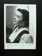Autografo Gigliola Frazzoni Soprano Grande  Fotografia  Villani Lirica - Autografi