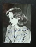Autografo Eva Magni Attrice Foto Coppini - Autografi