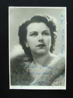 Autografo Franca Sacchi Soprano 1954 Reggio Emilia Foto Noto Lirica - Autografi