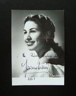 Autografo Ivana Tosini Soprano 1961 Foto Vellani Lirica - Autografi