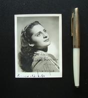 Autografo Agnes Ayres Attrice Soprano Brasiliano 1950 Lirica - Autografi