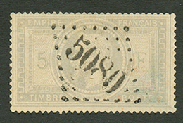 ALEXANDRIE : GC 5080 Sur 5F EMPIRE (n°33). Signé CALVES. TB - Frankrijk (oude Kolonies En Protectoraten)
