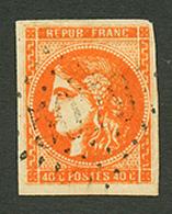 ALEXANDRETTE : GC 5079 Sur 40c BORDEAUX (n°48). Frappe Faible Mais Lisible. Signé CALVES. TB. - Frankrijk (oude Kolonies En Protectoraten)