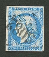 BEYROUTH : GC 5082 Sur 20c BORDEAUX (n°44). Signé CALVES. TB. - Frankrijk (oude Kolonies En Protectoraten)