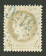 CAVALLE : GC 5156 Sur 4c CERES (n°52). Signé SCHELLER. Superbe. - Frankrijk (oude Kolonies En Protectoraten)