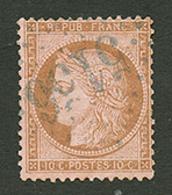 CAVALLE : GC 5156 Sur 10c CERES (n°58). Signé SCHELLER. Superbe. - Frankrijk (oude Kolonies En Protectoraten)