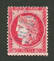 CAVALLE : GC 5156 Sur 80c CERES (n°57) Léger Aminci. Certificat CALVES. RARE. TB. - Frankrijk (oude Kolonies En Protectoraten)