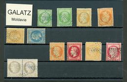 GALATZ : GC 5085 Sur 12 Timbres (5c N°12, 5c N°20, N°21, 23, 28, 29, 31, 32, 38, Paire N°52, 57). TB, B Ou Pd. - Frankrijk (oude Kolonies En Protectoraten)
