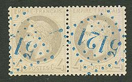 LA GOULETTE : GC 5121 Sur Paire Du 4c EMPIRE (n°27). Signé CALVES. Superbe. - Frankrijk (oude Kolonies En Protectoraten)