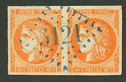 LA GOULETTE : GC 5121 Sur Paire Du 40c BORDEAUX (n°48) Pd. Signé BRUN. Superbe. - Frankrijk (oude Kolonies En Protectoraten)