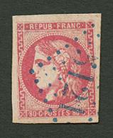 LA GOULETTE : GC 5121 Sur 80c BORDEAUX (n°49). Certificat CALVES. TB. - Frankrijk (oude Kolonies En Protectoraten)