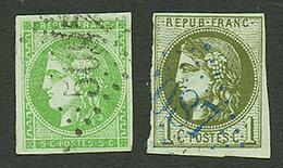 IBRAILA : GC 5087 Sur 1c BORDEAUX (n°39) Et 5c BORDEAUX (n°42). Les 2 Signés SCHELLER. TRES RARE. TB. - Frankrijk (oude Kolonies En Protectoraten)