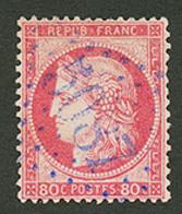 IBRAILA : GC 5087 Sur 80c CERES (n°57). Superbe. - Frankrijk (oude Kolonies En Protectoraten)
