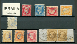 IBRAILA : GC 5087 Sur 10 Timbres (N°17, 22, 28, 31, 32, 38 Et Paire 30c(n°30), N°52). RARE. TB, B Ou Pd. - Frankrijk (oude Kolonies En Protectoraten)