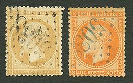 INEBOLI : GC 5088 Sur 10c (n° 21) Et 40c (n°31) Pd. Les 2 Timbnres Signés SCHELLER. TB. - Frankrijk (oude Kolonies En Protectoraten)