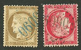 KERASSUNDE : GC 5090 Sur 30c CERES (n°56) Et 80c CERES (n°57). TTB. - Frankrijk (oude Kolonies En Protectoraten)