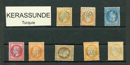 KERASSUNDE : GC 5090 Sur 8 Timbres (N°21, 23, 29, 30, 31, 32, 48, 59). 1 Certificat. TB, B Ou Pd. - Frankrijk (oude Kolonies En Protectoraten)
