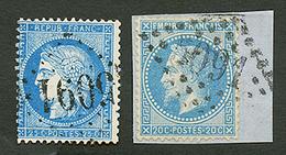 LATTAQUIE : GC 5091 Sur 20c EMPIRE (n°29) Signé BRUN Et 25c CERES (n°60) Pd Certificat CALVES. TTB. - Frankrijk (oude Kolonies En Protectoraten)