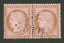LATTAQUIE : GC 5091 Sur Paire Du 10c CERES (n°58). Signé SCHELLER. Superbe. - Frankrijk (oude Kolonies En Protectoraten)