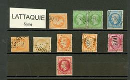 LATTAQUIE : GC 5091 Sur 10 Timbres (N°16, Paire N°20, 22, 23, 28, 31, 32, 38, 57). TB, B Ou Pd. - Frankrijk (oude Kolonies En Protectoraten)