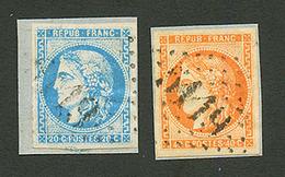 LE CAIRE : 20c BORDEAUX (n°46) Et 40c BORDEAUX (n°48) Obl. GC 5119 Sur Fragments. CERTIFICATS CALVES. TB. - Frankrijk (oude Kolonies En Protectoraten)