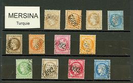 MERSINA : GC 5092 Sur 12 Timbres (N°21, 23, 28, 29, 30, 31, 32, 38, 53, 56, 57, 60). TB, B Ou Pd. - Frankrijk (oude Kolonies En Protectoraten)