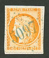 ORDOU : GC 5097 Sur 40c SIEGE (n°38). Signé SCHELLER. Superbe. - Frankrijk (oude Kolonies En Protectoraten)