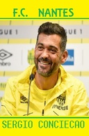 CARTE DE JOUER DU FC. NANTES . SERGIO CONCEICAO # REFERENCE . JN.FC. 350 - Voetbal
