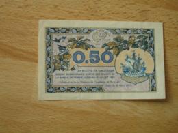 Paris Billet Chambre De Commerce Billet Necessite  50 C 1920 - Chamber Of Commerce