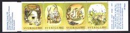 Zweden Sverige Sweden 1999 Booklet Carnet Cartoons Cartoon Comic Comics Rabbits Animals Dieren Konijn Kaniner - Bandes Dessinées