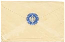 ETHIOPIA - Consular Mail : Scarce Blue Label KAISERLICH DEUTSCHE GESANDTSCHAFT FUR ABESSINIEN On Reverse Of Envelope To  - Ethiopie