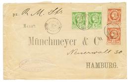 HAITI : 1886 5c(x2) + 20c(x2) Canc. JACMEL On Envelope (Faults On Reverse) To GERMANY. Vf. - Haiti