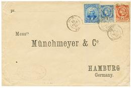 HAITI : 1888 3c + 7c+ 20c Canc. JACMEL On Envelope To GERMANY. Ex. SABATTINI. Vf. - Haiti