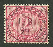 PALESTINE - GERMAN P.O : GERMANY 2 MARK Canv. JAFFA. STEUER Certificate (2002). RARE. Superb. - Palestine
