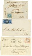 1858/66 Lot 3 Interesting Cover From PERU (destination ITALY, VAPOR INCA, PUNO). Vf. - Peru