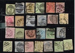 Lot Victoria Anciens Timbres à Identifier - Postzegels