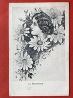 1906 - Illustrateur - LA MARGUERITE - DE MARGRIET - VISAGE DE FEMME DANS LA MARGUERITE - VROUWENGEZICHT IN MARGRIET - Illustrateurs & Photographes