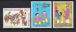 """Viet-Sud YT 503 à 505 """" Réjouissances Du Têt """" 1975 Neuf** MNH - Viêt-Nam"""