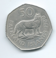 Falkland Islands - Elizabeth II - 50 Pence - 1980 - KM14.1 - Falkland