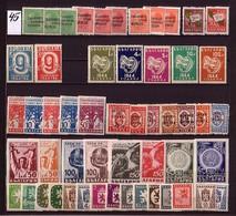 BULGARIA / BULGARIE - 1945 - Anne Comple ** Michel 468 - 515 - 57 Tim. + 2 Bl - Komplette Jahrgänge