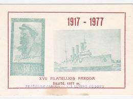 USSR Philatelic Exhibition Souvenir Sheet Silute Lithuania (hinged) 22 - 1923-1991 UdSSR