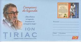ROMANIA 2019:TENNIS, HALL OF FAME Unused Postal Stationery Cover - Registered Shipping! Envoi Enregistre! - Tennis